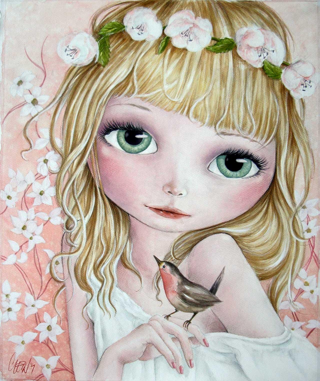 Fine Art Print dollypop Carice door Hans De Cleen