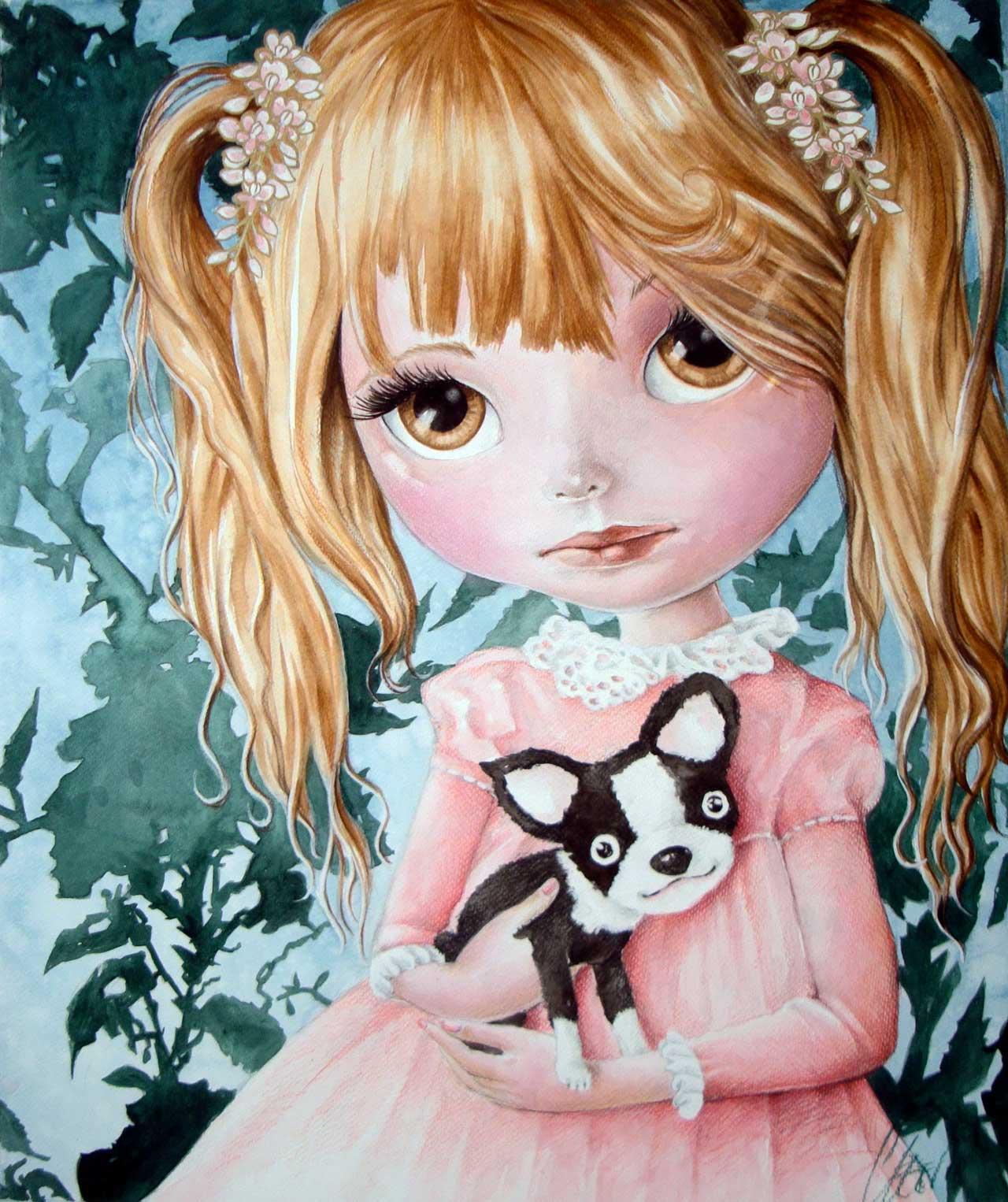 Fine Art Print dollypop Coco door Hans De Cleen