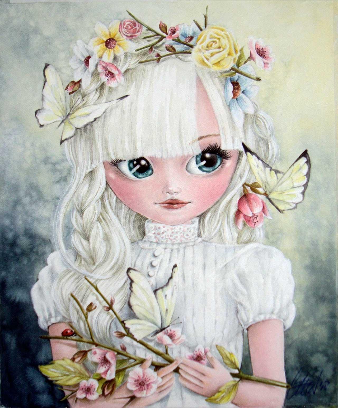 Fine Art Print dollypop Fee door Hans De Cleen