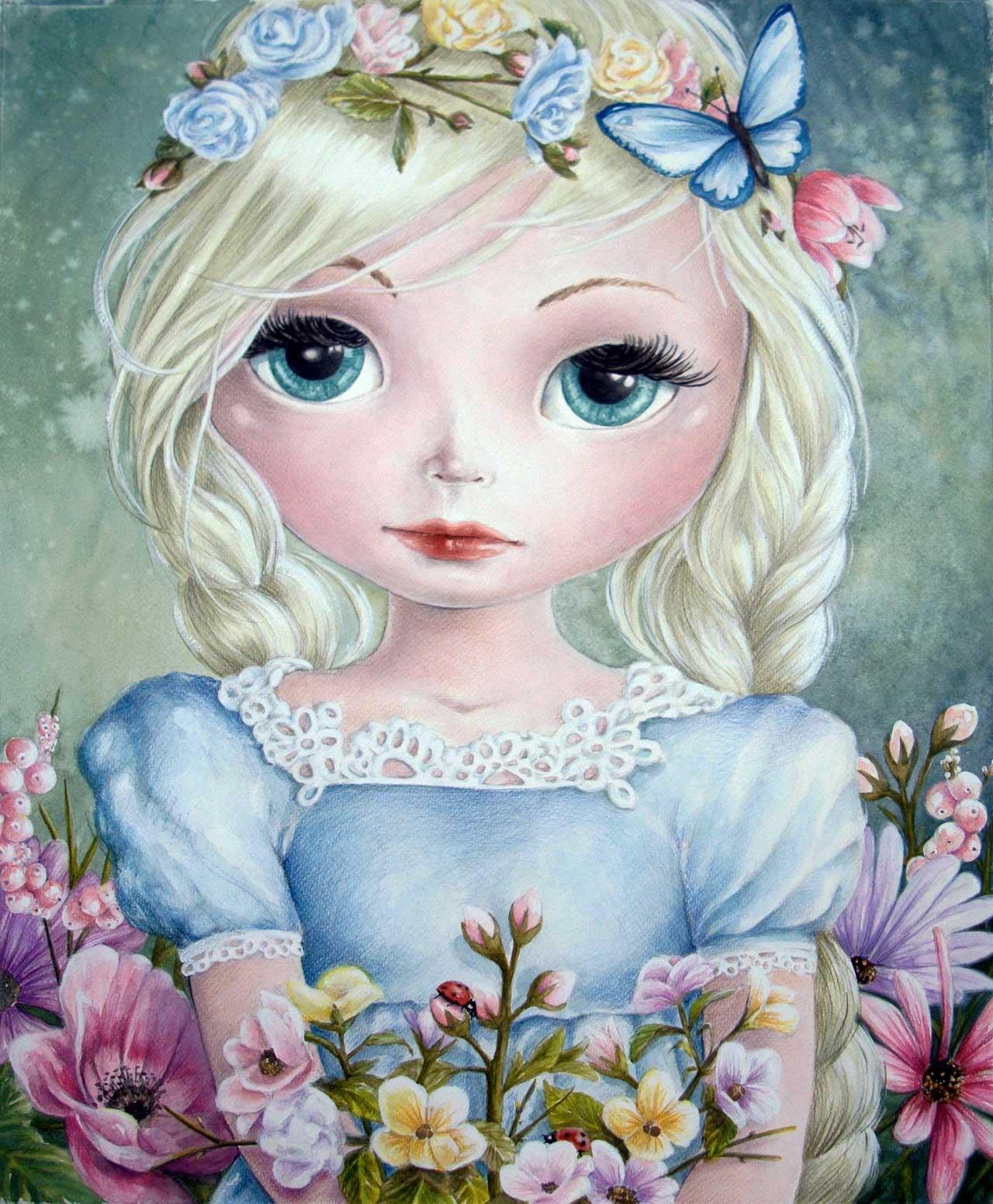 Fine Art Print dollypop Fleur door Hans De Cleen