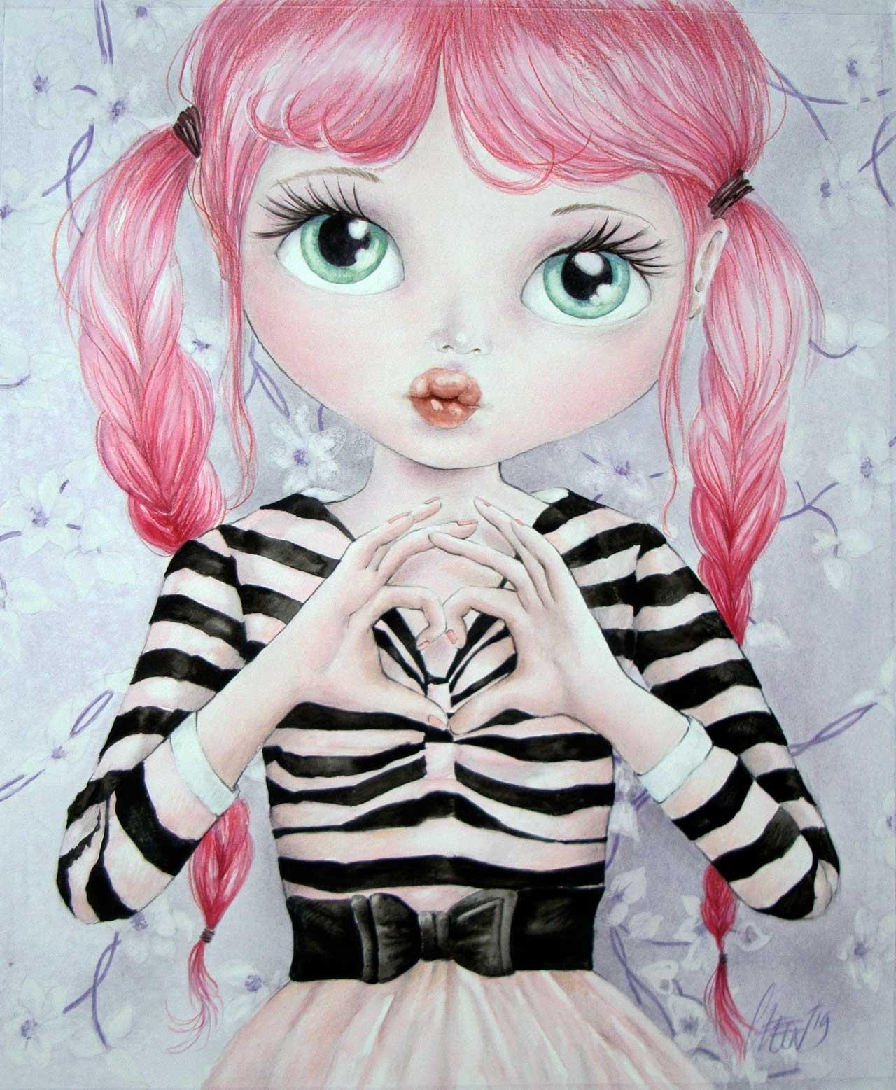 Fine Art Print dollypop Hartje door Hans De Cleen