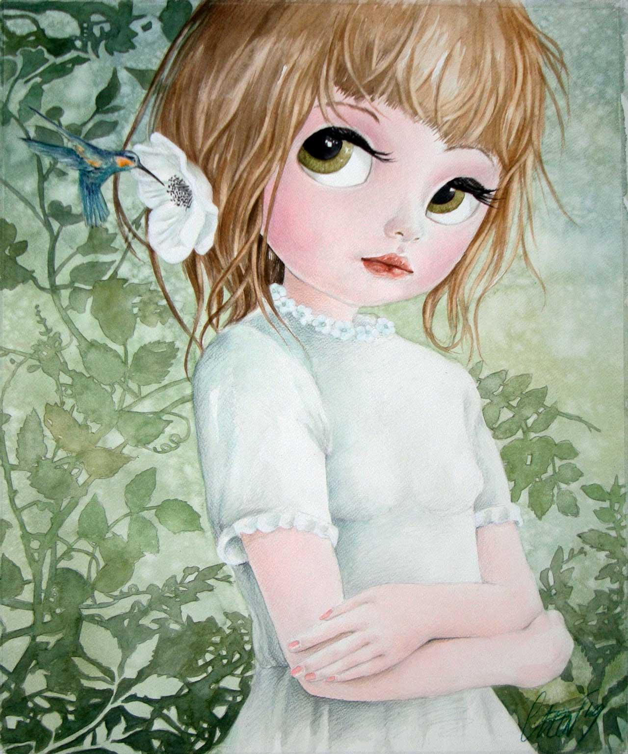 Fine Art Print dollypop Lara door Hans De Cleen
