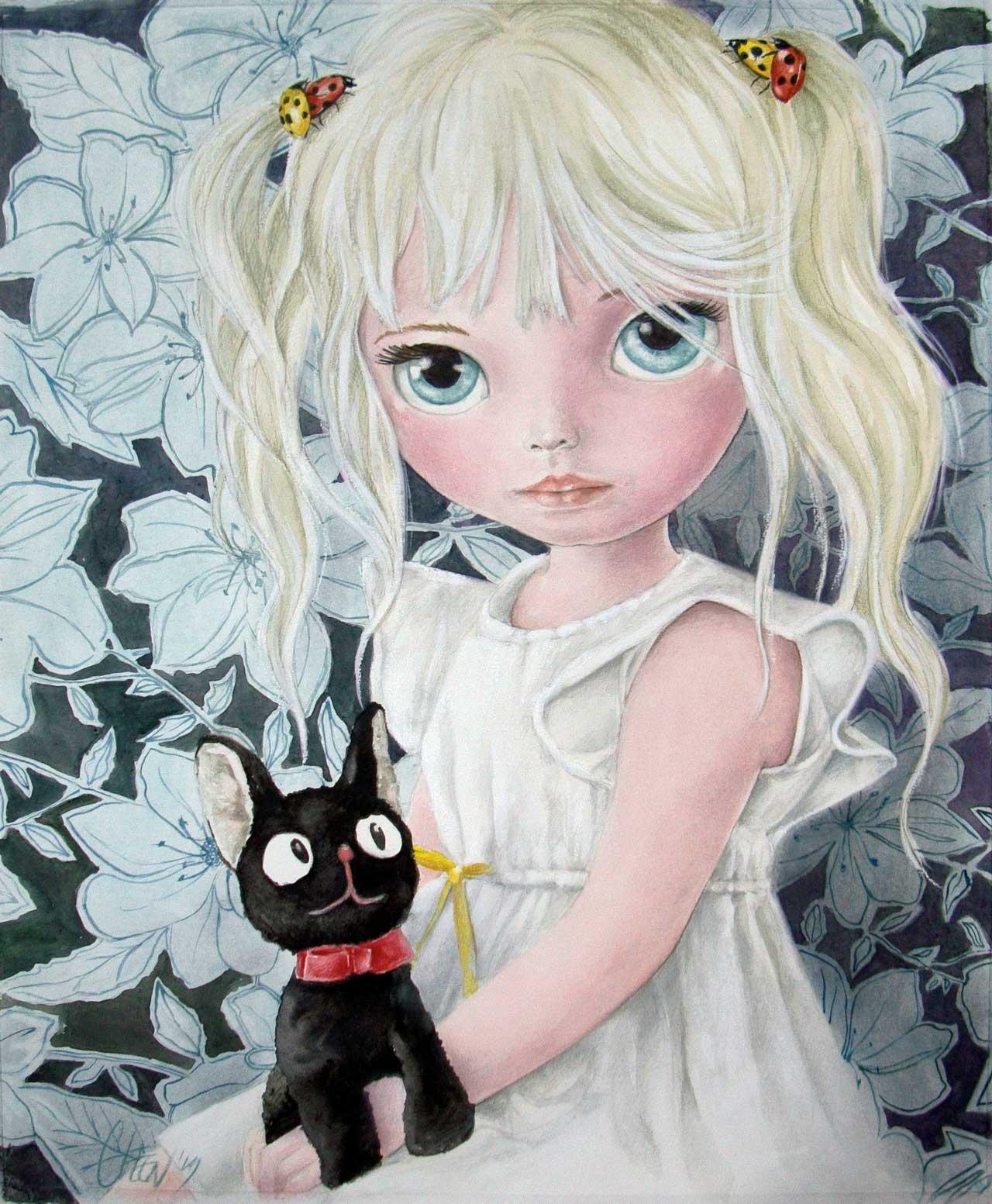 Fine Art Print dollypop Laure door Hans De Cleen s