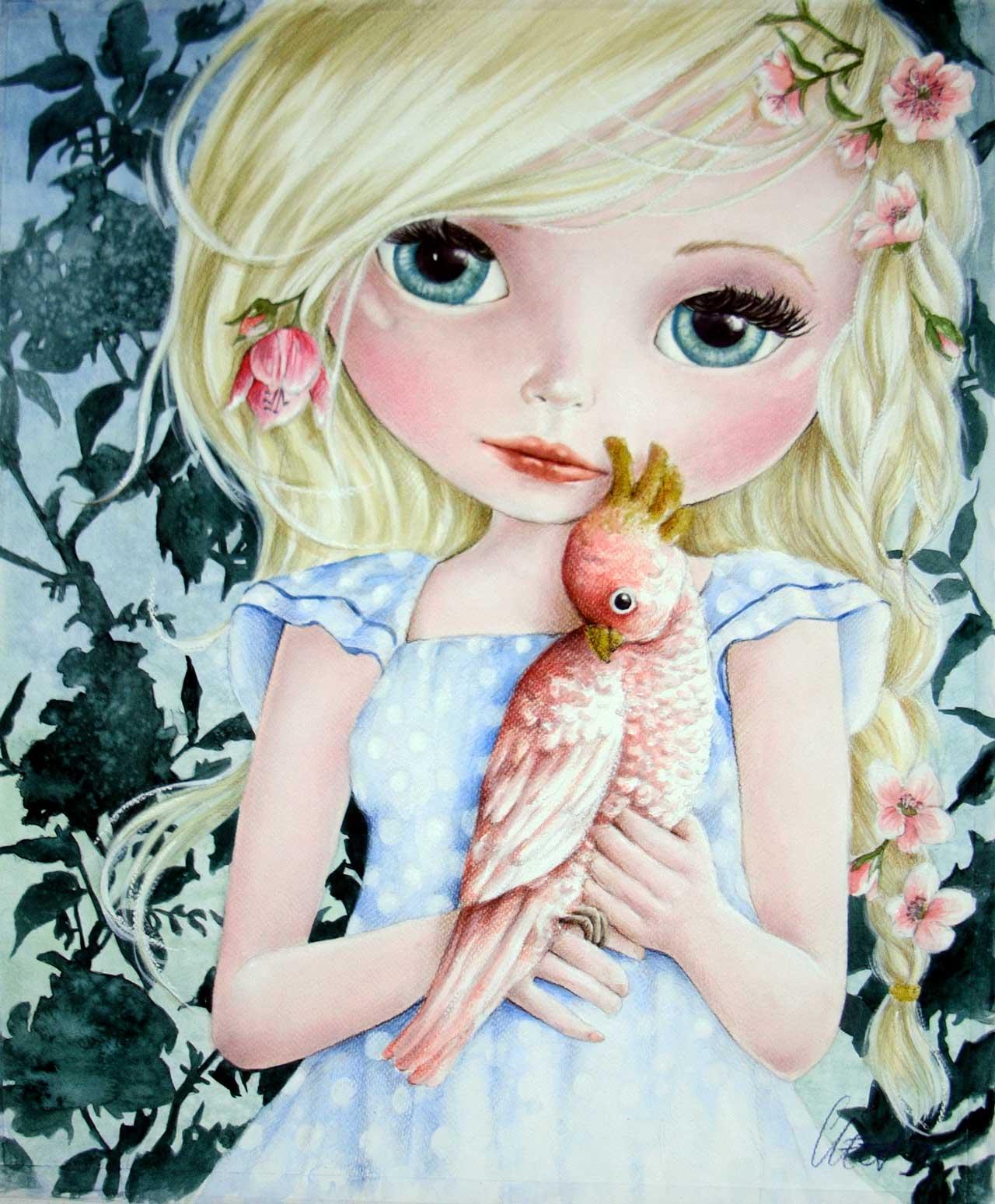 Fine Art Print dollypop Lulu door Hans De Cleen
