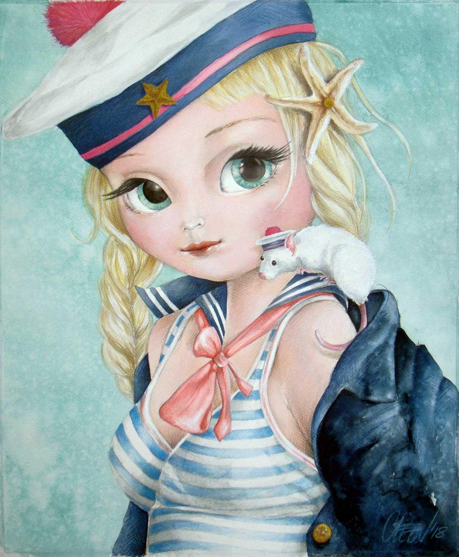 Fine Art Print dollypop Marinka door Hans De Cleen s