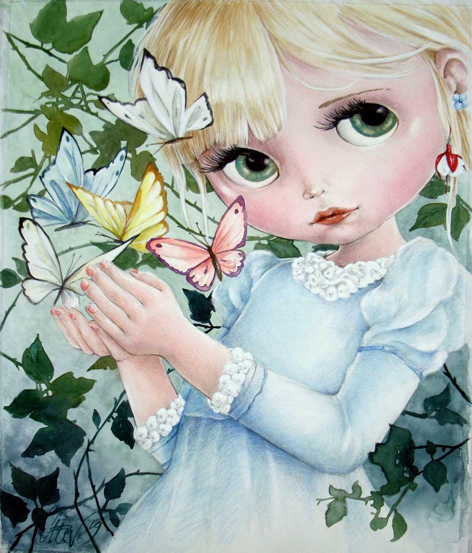 Fine Art Print dollypop Mariposa door Hans De Cleen