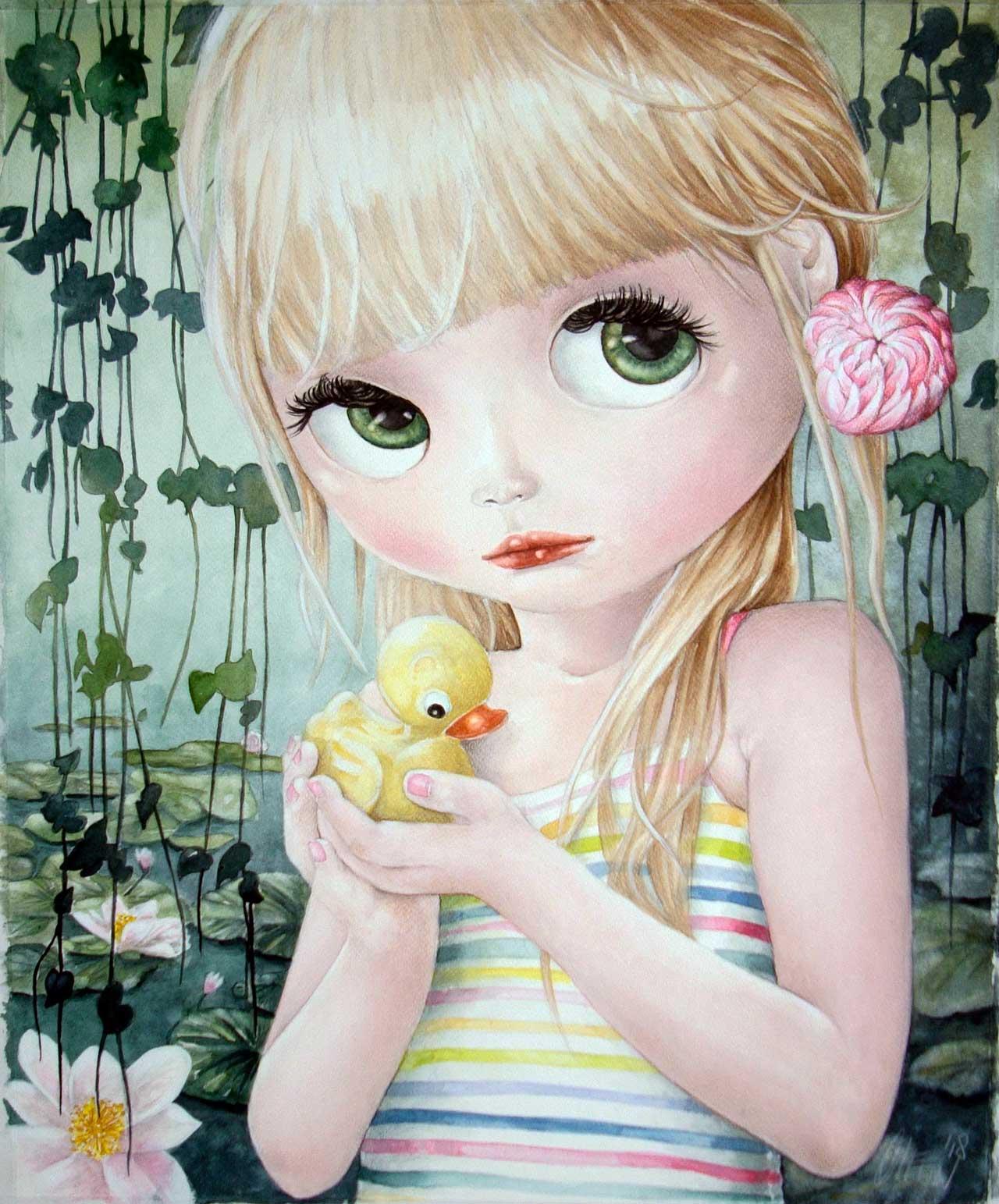 Fine Art Print dollypop Neon door Hans De Cleen s