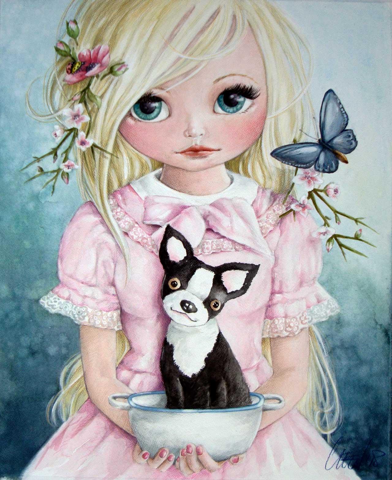 Fine Art Print dollypop Paris door Hans De Cleen
