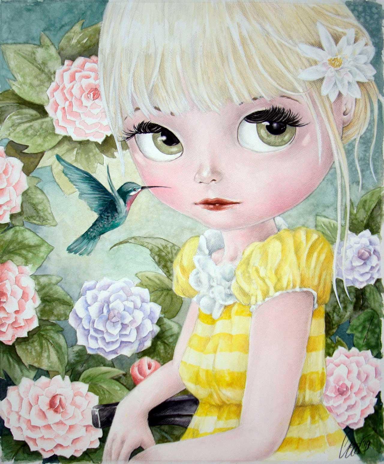 Fine Art Print dollypop Rosalie door Hans De Cleen