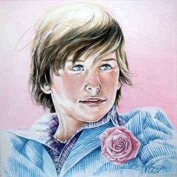 Portret van jongen met corsage