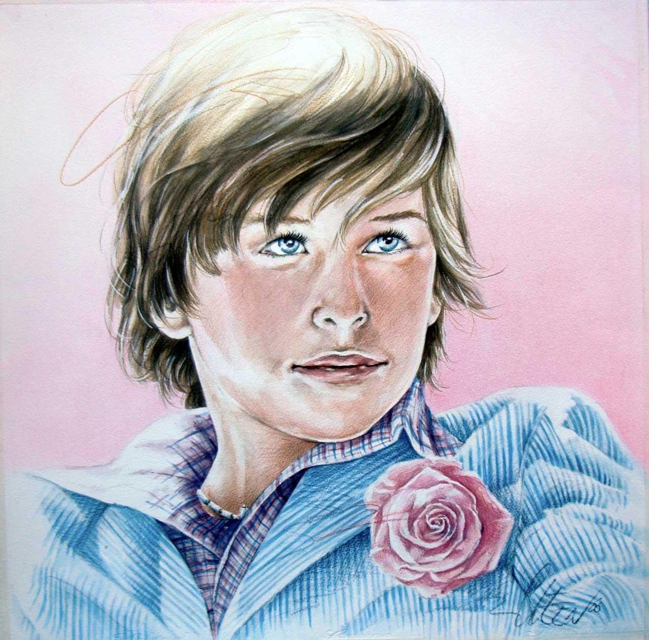 Hans De Cleen portret jongen met corsage