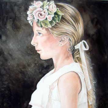 Portret van meisje met strik